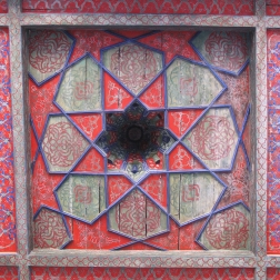 Aivan ceiling at Tash-Hauli Harem, Khiva, Uzbekistan.
