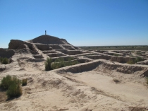 Ancient ruins of a Zoroastrian city, Nukus, Uzbekistan.