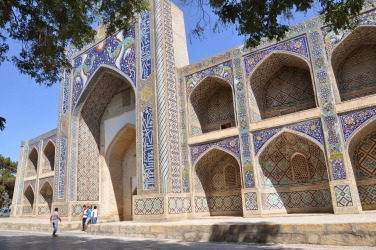 Madrasah of Nadir Divan-Beghi, Bukhara, Uzbekistan.