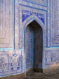 Decorative arch in Kunya-Ark,'Old Fortress' Khiva. Uzbekistan.