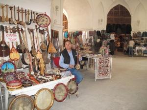 Inside the bazaar at Bukhara. Uzbekistan.