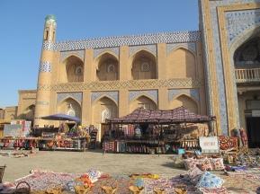 Bazaar outside Islam-Khadja Madrasah, Khiva, Uzbekistan.