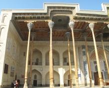 Bolo-Hauz Mosque, Bukhara, Uzbekistan.