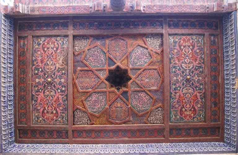 Ceiling at Tash-Hauli's Harem, Khiva.