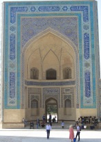 Entrance to Kalyan Mosque, Bukhara, Uzbekistan.