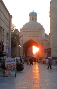 Evening arrival at Bukhara, Uzbekistan.