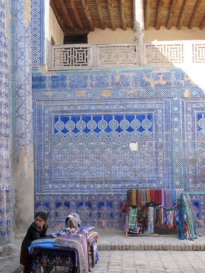 Vendors at the Harem, Kunya-Ark, Khiva, Uzbekistan.