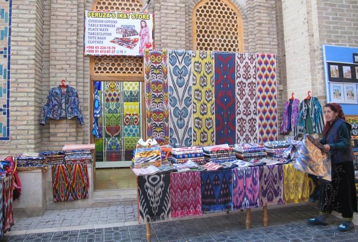 Ikat store, Bukhara, Uzbekistan.