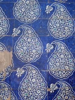 Majolica tiles, Kunya-Ark, Khiva. Uzbekistan.