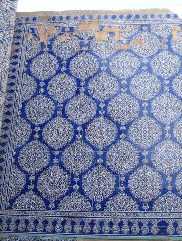 Kunya-Ark, Mosque Majolica tiles detail, Khiva, Uzbekistan.