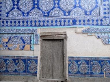 Kunya-Ark, Mosque Majolica tiles, Khiva, Uzbekistan.