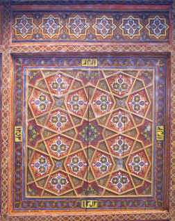 Ceiling at Kunya-Ark,'Old Fortress', Khiva, Uzbekistan.