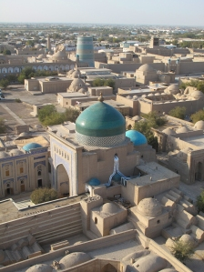 Looking over Khiva from Islam- Khadja Minaret.
