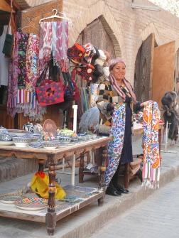 Market stall holder Khiva, Uzbekistan.