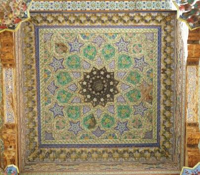Mosque ceiling detail, Bolo-Hauz, Bukhara, Uzbekistan.