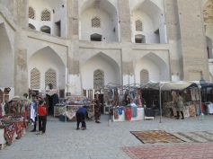 Open courtyard of Bazaar, Bukhara, Uzbekistan.