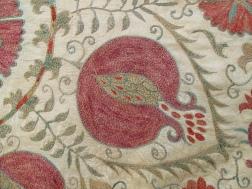 Detail of Pomegranate on Suzani, at Bukhara, Uzbekistan.