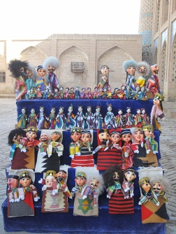 Puppets for sale, Khiva, Uzbekistan.