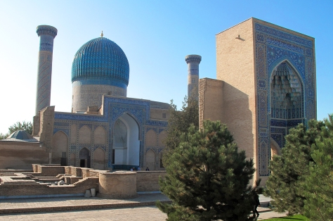 Gur-Emir Mausoleum, Samarkand showing dome. Uzbekistan.