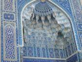 Stalactite arch, Gur-Emir Mausoleum, Samarkand, Uzbekistan.