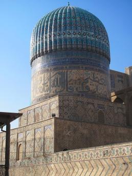 Samarkand, Bibi- Khanym Mosque, dome, Uzbekistan.