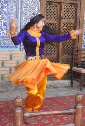 Dancer in Harem, Khiva Uzbekistan.