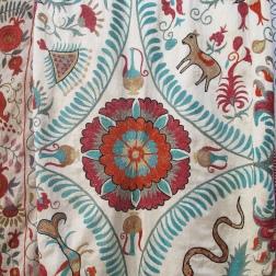 Suzani embroidery detail, Uzbekistan.