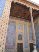 Tash-Hauli Harem, aivan room, with decorative ceiling. Uzbekistan.
