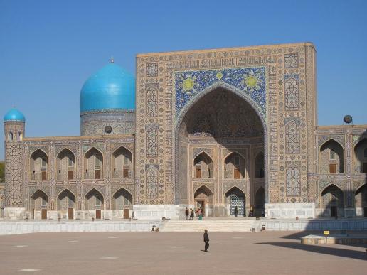 Tillya-Kari Madrasah, Registan Square, Samarkand, Uzbekistan.