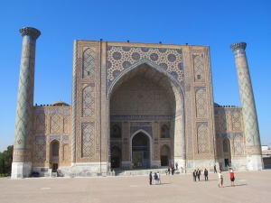 Ulugbek Madrasah, Registan Square, Samarkand, Uzbekistan.