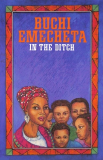 "Printed book cover for ""In The Ditch"", By Buchi Emecheta. Artwork by Marina Elphick."
