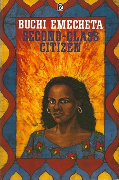 "Printed book cover for ""Second Class Citizen"" By Buchi Emecheta. Artwork by Marina Elphick."