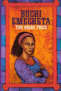"Printed book cover for ""The Bride Price"" By Buchi Emecheta. Artwork by Marina Elphick."
