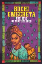 "Printed book cover for ""The Joys Of Motherhood"", By Buchi Emecheta. Artwork by Marina Elphick."