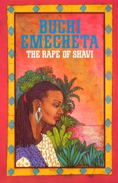 "Printed book cover for "" The Rape Of Shavi"" By Buchi Emecheta. Artwork by Marina Elphick."