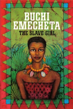 "Printed book cover for ""The Slave Girl"" By Buchi Emecheta. Artwork by Marina Elphick."