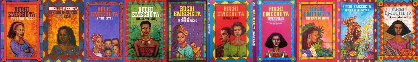 Set of ten books by Buchi Emecheta, illustrated by Marina Elphick. Artwork by Marina Elphick.