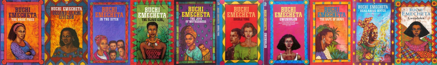 Set of ten books by Buchi Emecheta, illustrated by Marina Elphick. Artwork by Marina Elphick.