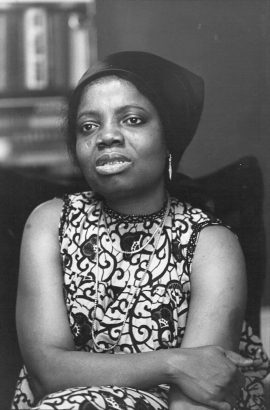 Buchi Emecheta. Photo used courtesy of the Onwordi family.