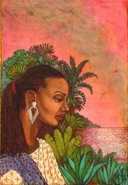 "Batik detail from Buchi Emecheta's ""The Rape Of Shavi"", by Marina Elphick."
