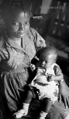 The young mother Buchi Emecheta. Photo used courtesy of the Onwordi family.